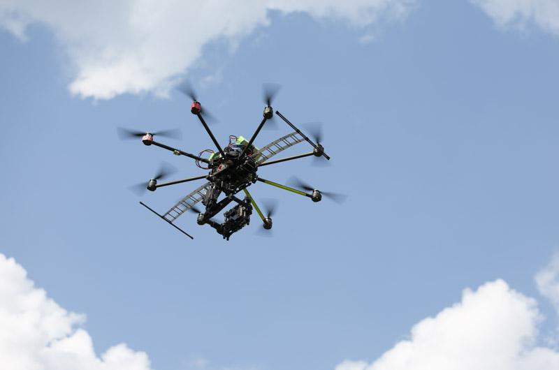 nowsay skyjib drone flying overhead