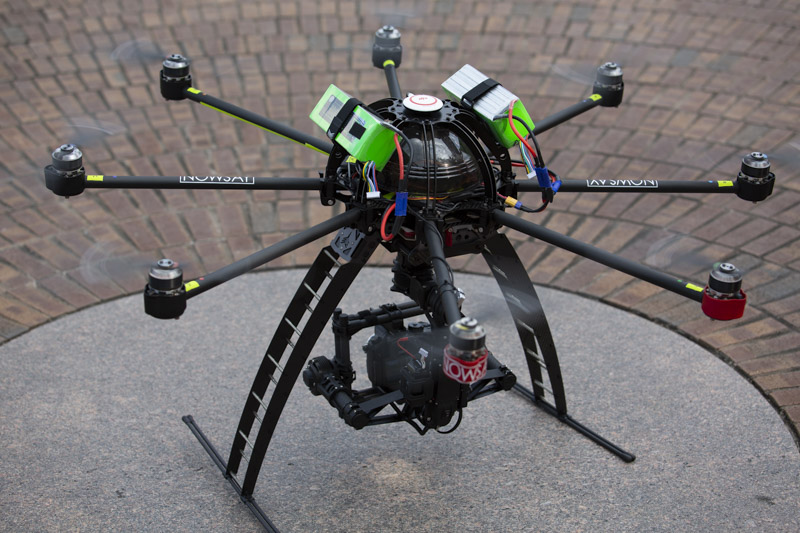nowsay skyjib drone preparing for takeoff