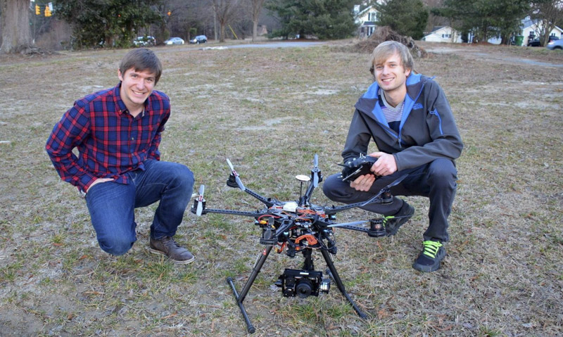 nowsay dominic and zach with drone dji s800